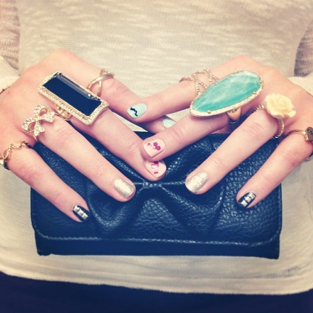 rings and a bow clutch!
