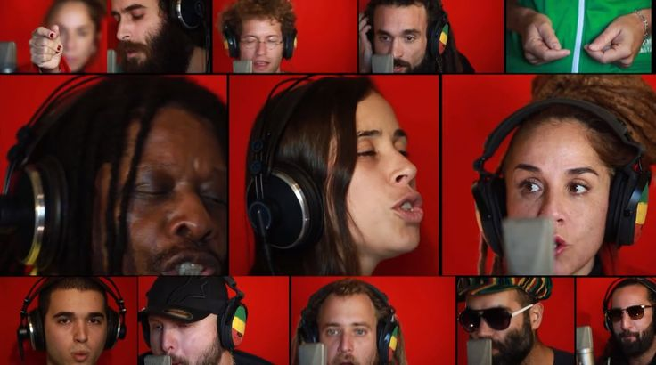"RL            A Cappella version of Bob Marley's ""Could You be Loved?"" http://alonsegal.com Thx R!"