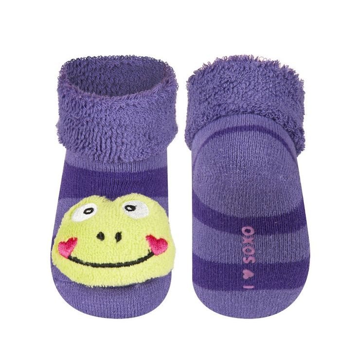 BABY RATTLE SOCKS 'SOXO' SMALL - FROG    #MamaFashionMe - Aussie Online Store with Beautiful Accessories for Girls + Some for Boys
