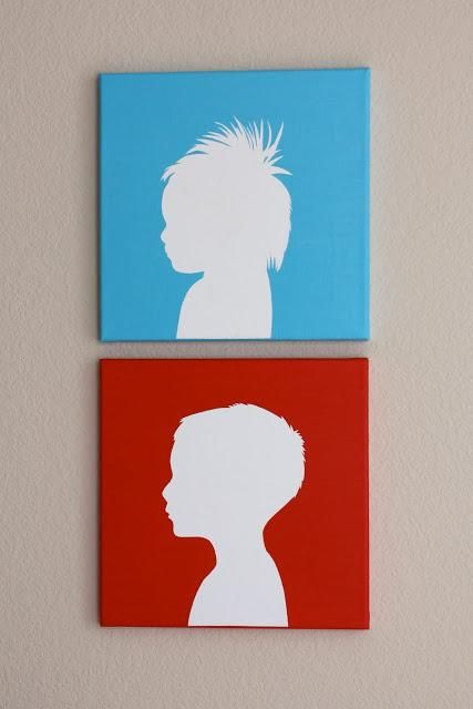 Art: DIY Canvas Silhouette Updates DIY Art DIY Home Decor