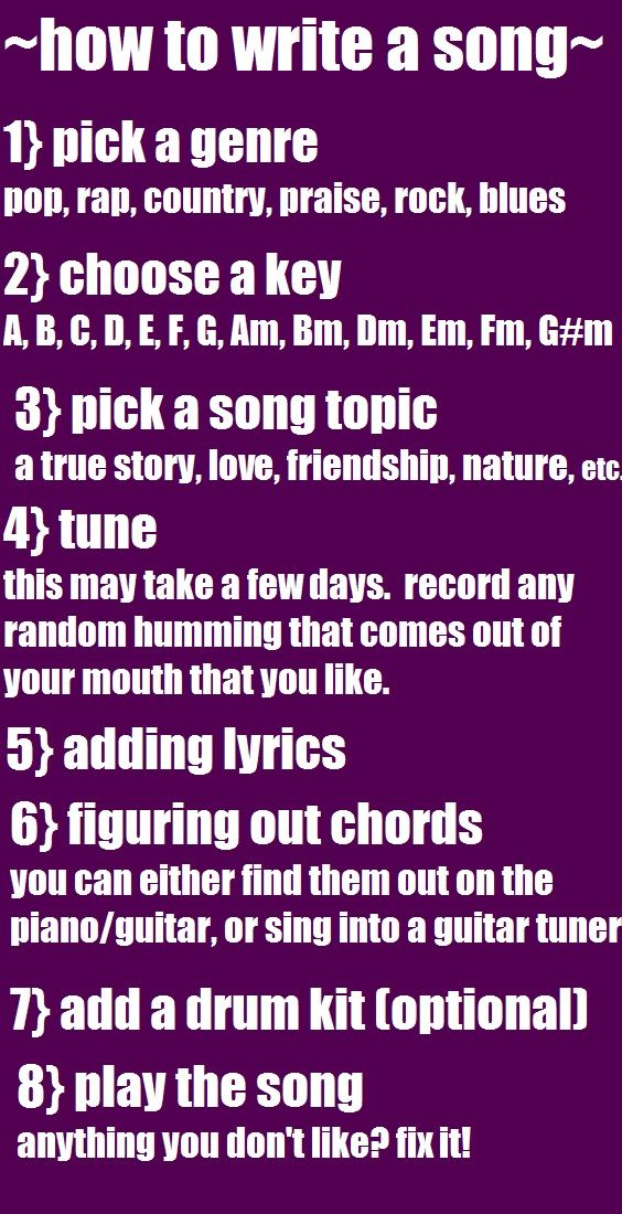 Song writing tutorial.  Love this!