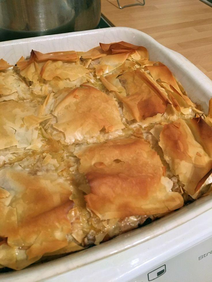 Greek Chicken Pie www.theglasgowscullery.com