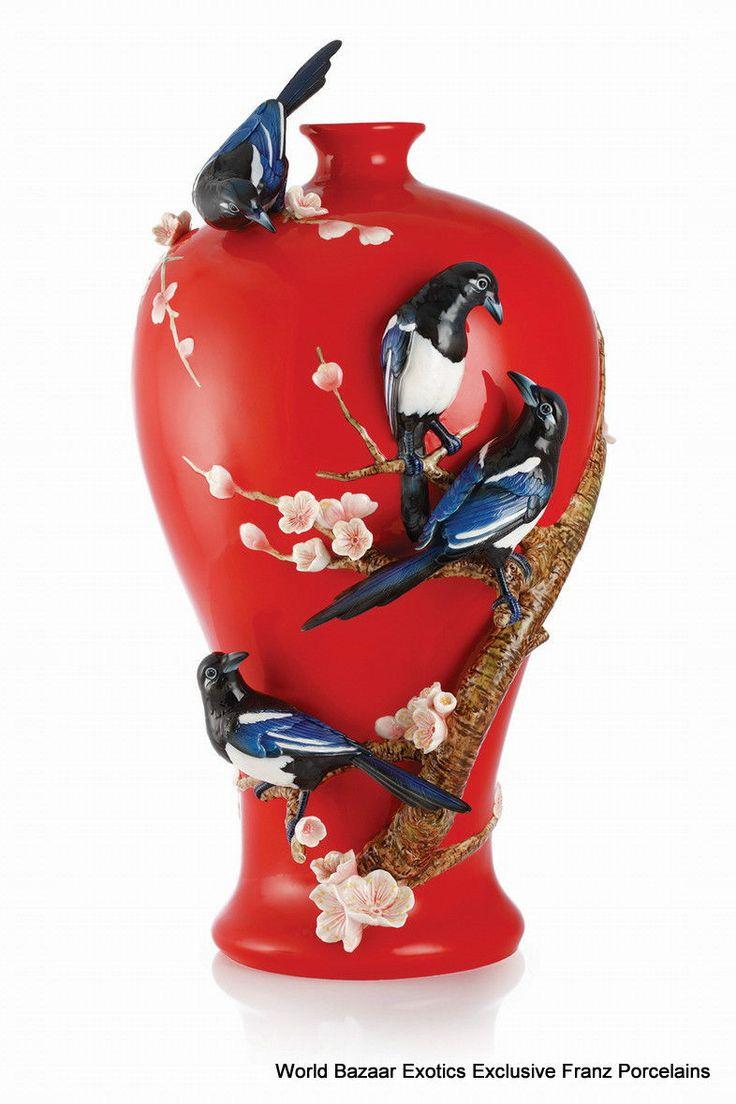 170 best franz porcelain images on pinterest beauty four magpies on plum vase franz porcelain exclusive item le 998 ebay reviewsmspy