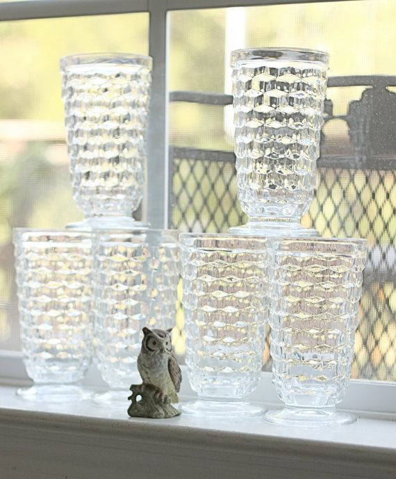 Would love to find a set of these in blue. They're just like my grandmother's old tumblers.