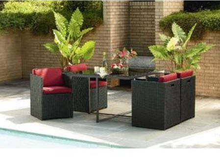La Z Boy Outdoor Emett 5 Piece Dining Set   Outdoor Living   Patio Furniture    Dining Sets Part 46