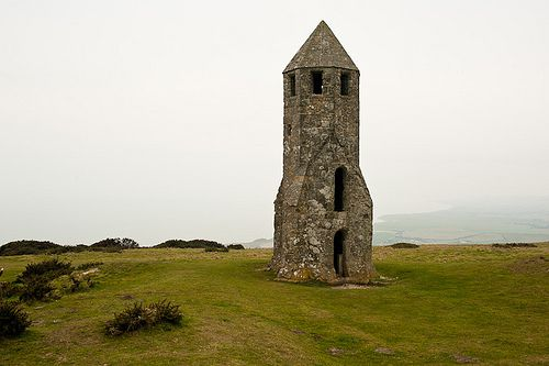 St. Cathrine's Oratory, a medieval lighthouse on St. Cathrine's Hill. Isle of Wright