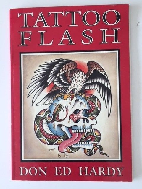 DON ED HARDY FLASH BOOK PLUS SEVEN MORE VINTAGE BOOKS FOR ONE PRICE