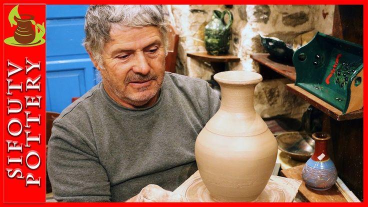 Pottery Raku Vase video: How to make a pottery Raku Vase/ pottery making...