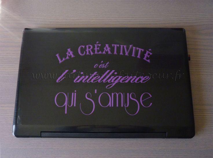 Sticker citation (Quote laptop decal)
