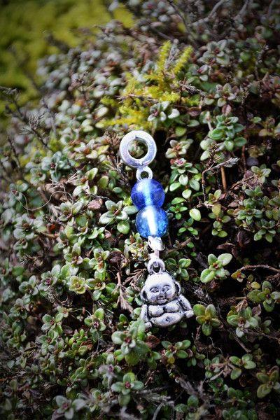 Amulette - Kettenanhänger Dreadschmuck  kleinen Buddha - ein Designerstück von wollkaethe bei DaWanda