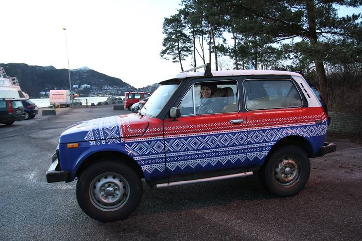 When your neighbours decide to pimp your Lada while you're on holiday..in the Marius pattern!