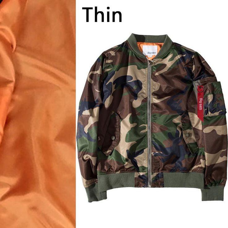 Citi Trend Stylish Men`s Army Camo Bomber Jacket Coat High Street Designer Camouflage Air MA1 Flight Jacket Outwear