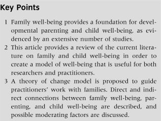 Family well-being, parenting, and child well-being: Pathways to healthy adjustment - Newland - 2015 - Clinical Psychologist - Wiley Online Library