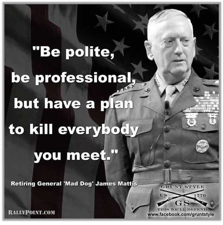 Secretary of Defense James Mattis.  A great General - but should he lead the defense department?  http://www.politico.com/magazine/story/2016/12/james-mattis-iran-secretary-of-defense-214500