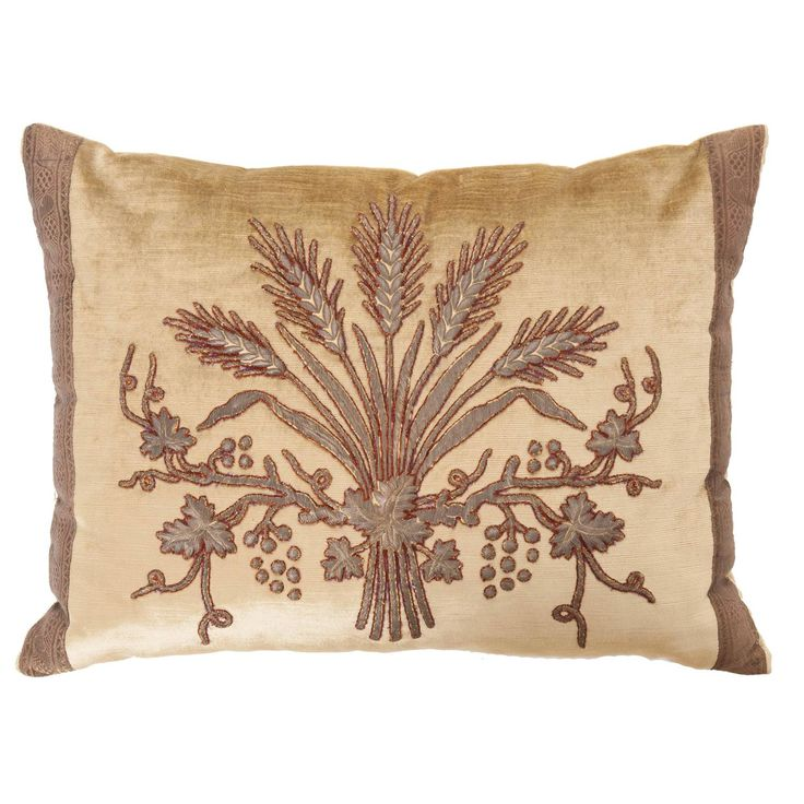Antique Textile Pillow by B.Viz Designs | From a unique collection of antique and modern pillows and throws at https://www.1stdibs.com/furniture/more-furniture-collectibles/pillows-throws/