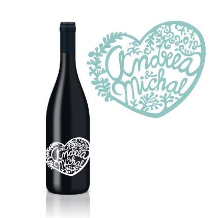 svadba.depingo.sk - vyrezávané etikety na svadobné víno