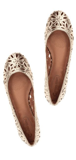 Gold flats - I bought these 3 years ago, and still wear them all the time!