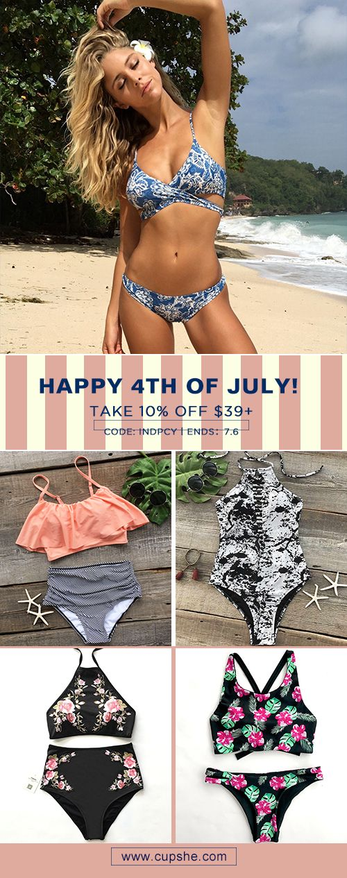 Happy 4th of July! Cupshe has provided surprises for you. Enjoy 10% OFF $39+ with improved quality, faster shipping and better service. Ends on 6th of July. You won't want to miss them. Check them now!