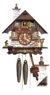 Relógio de Cuco<br>Casa da Floresta Negra com Limpador de chaminé que se move