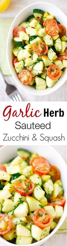 Garlic Herb Sauteed      Garlic Herb Sauteed Zucchini and Squash - the healthiest and freshest side dish EVER with zucchini and squash, sauteed with garlic herb butter |  rasamalaysia.com   https://www.pinterest.com/pin/87749892716287955/   Also check out: http://kombuchaguru.com