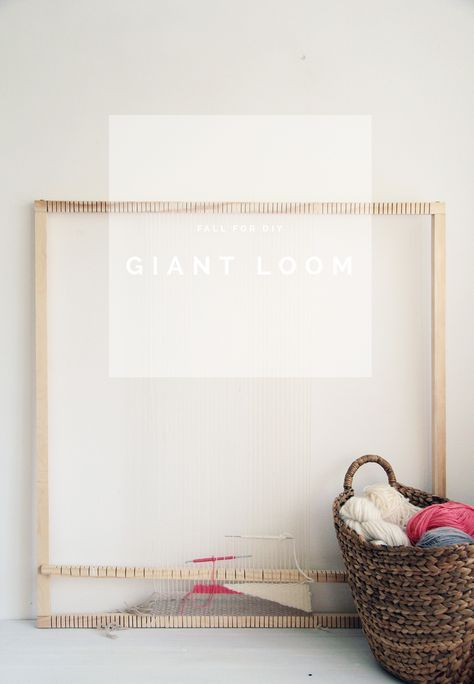 How to Make a DIY Giant Loom   Fall For DIY
