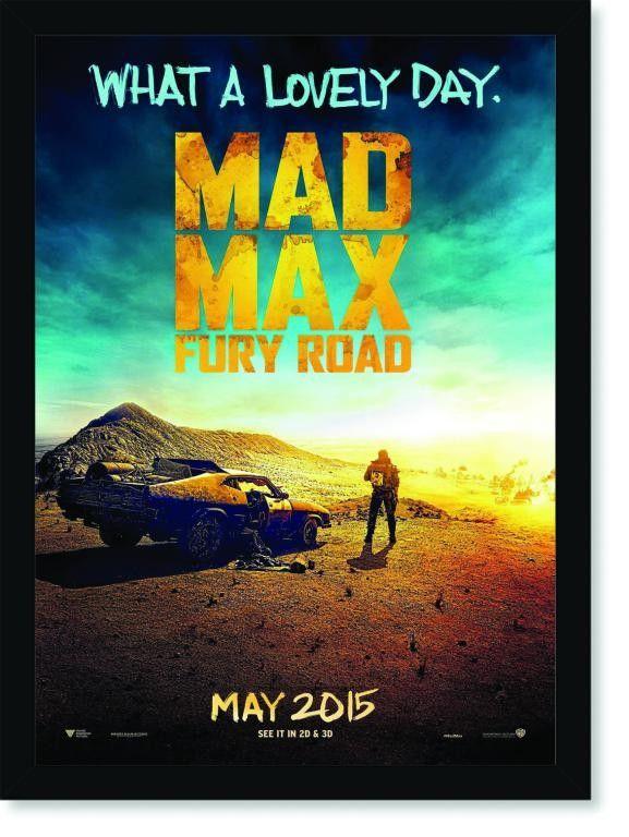 Quadro Poster Cinema Mad Max Fury Road 2 Mad Max Cinema E Filmes