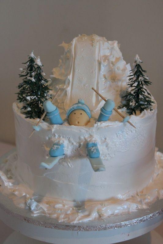 Ski Cake. so cute!