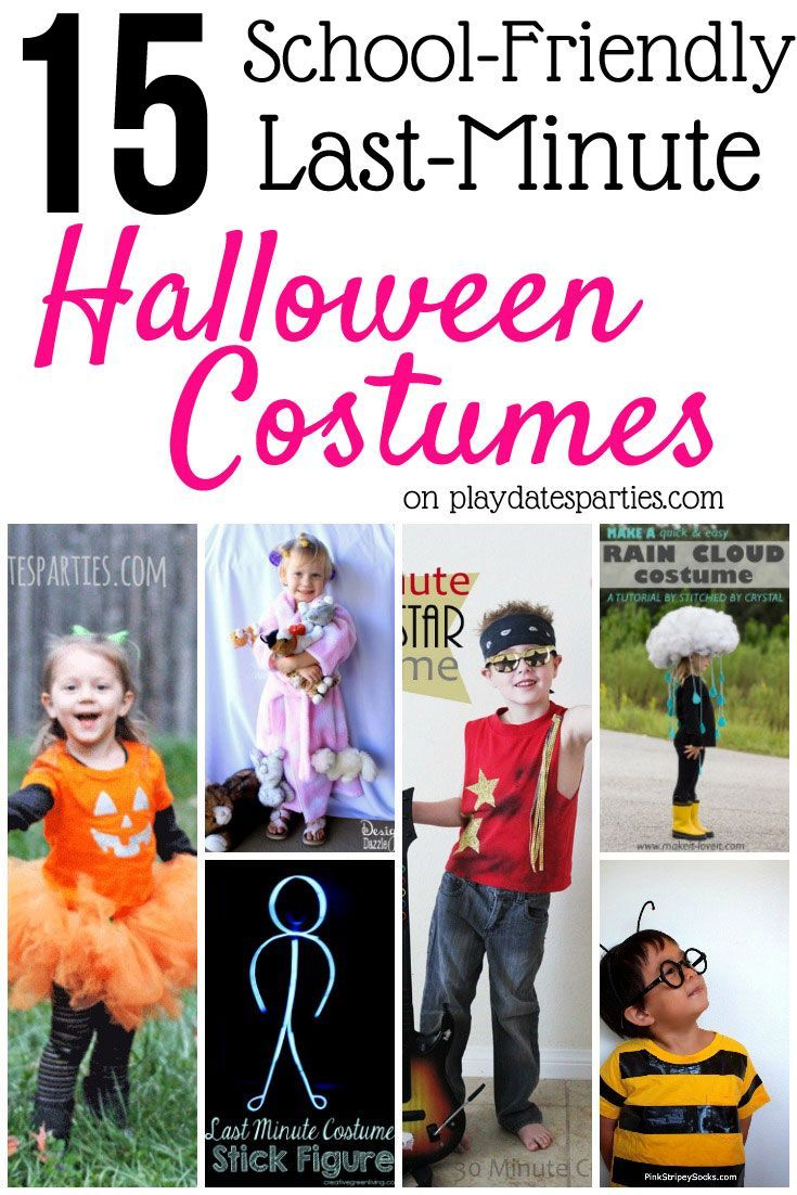 15 school friendly last minute halloween costumes for kids. Black Bedroom Furniture Sets. Home Design Ideas