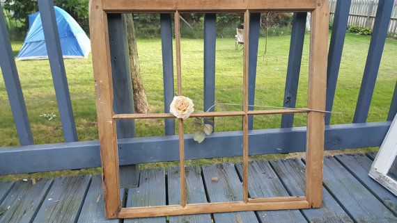 Window Frame, 6 Pane, Pane Window, Wood Window, Old Window, Rustic Decor, Wedding Decor, Wood Sign, Farmhouse, Antique Window, Pane  G82