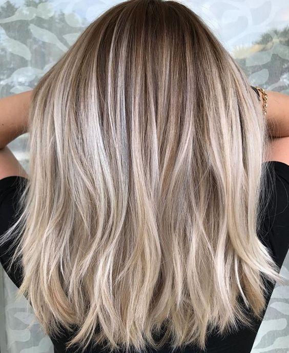 46 Beliebte Kurze, schulterlange Frisuren und Farben für Mädchen – #beliebte #…