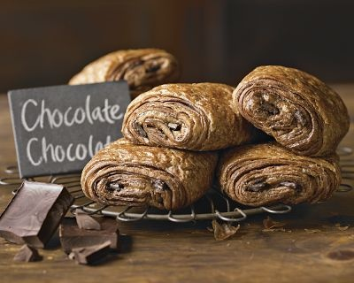 Chocolate Chocolate Croissants