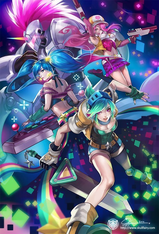 Arcade characters from League of Legends