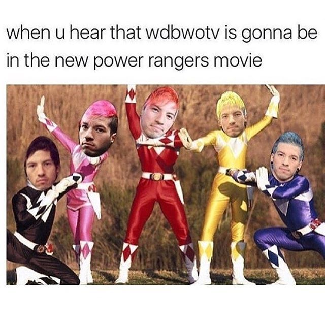 me oml twenty one pilots // wdbwotv // power rangers
