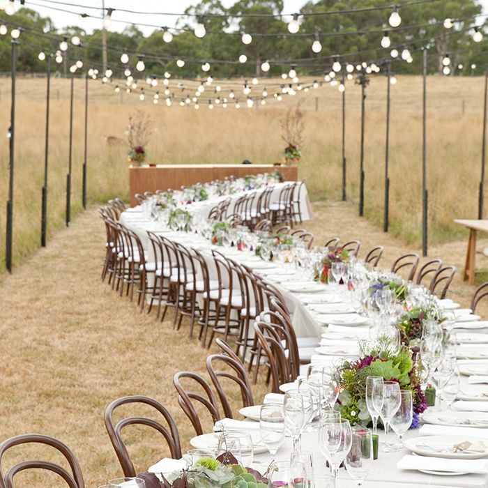 Indie wedding festival outdoor reception. Credits in comment.