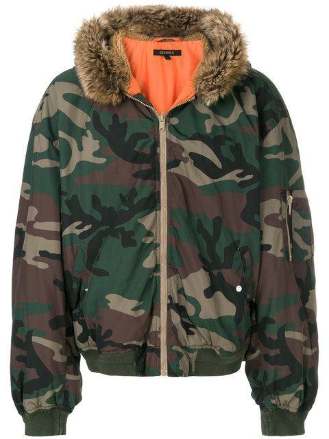 50d70dd5e9673 Shop Yeezy Season 5 hooded bomber jacket.