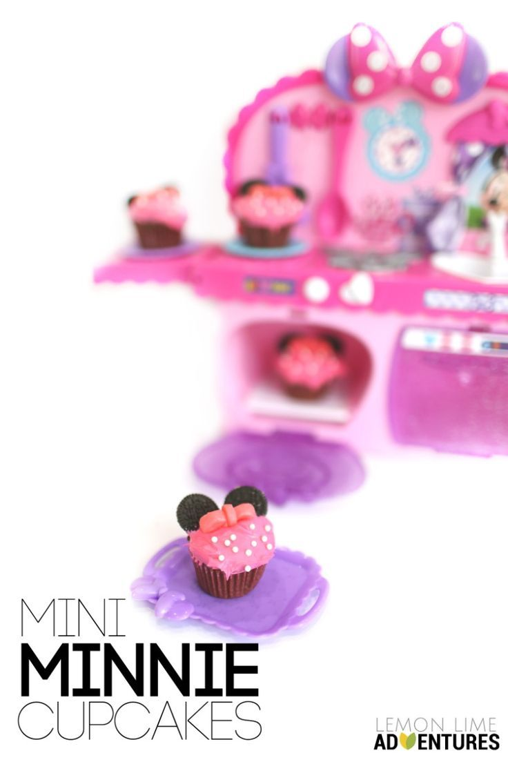 Mini Minnie Cupcakes with super fun DisneyJunior Playset Perfect for any Minnie lover #MinnieMe #ad