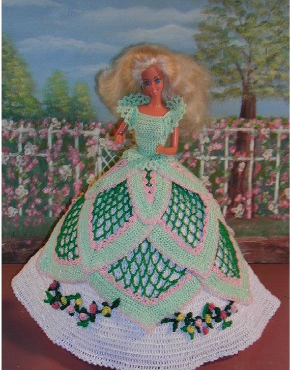 Crochet Fashion Doll Barbie Pattern 86 by JudysDollPatterns