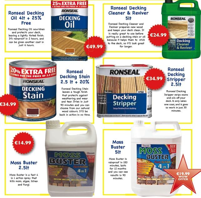 Summer weather is coming, now you have no excuse!   Find our decking oil, decking stain, decking stripper and more in your local Expert Hardware and online