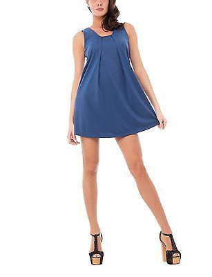 Medium, blue (INDACO), Olivia Women's Abito Smanicato Dress NEW