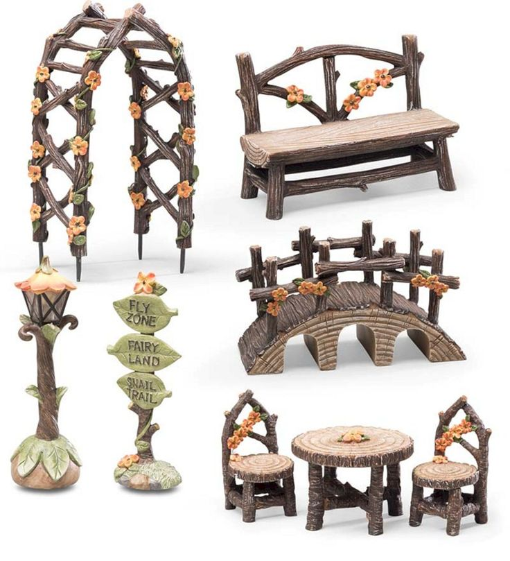 Nice 45+ Interesting Fairy Furniture Design That Will Make Your Garden Look Beau…