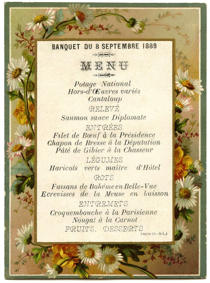 40 Best French Menus Images On Pinterest | Menu, Vintage Menu And