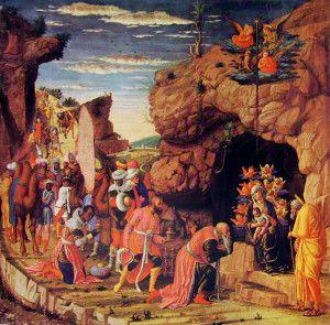 Pokłon trzech króli, Andrea Mantegna, obraz