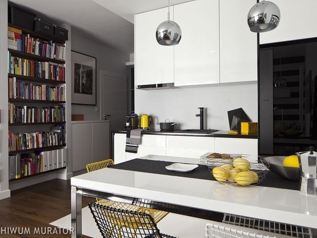 Nowoczesna kuchnia z salonem. Pomysły na aneks kuchenny (5 m2)