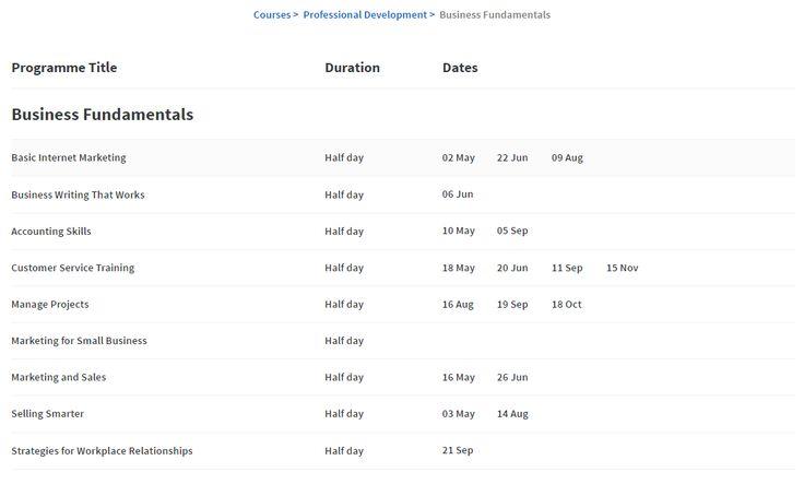Course Schedule - https://www.wintec.ac.nz/