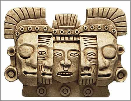 Mask of Death & Rebirth, maya masks, pre-columbian masks, mask of rebirth, maya reliefs, maya art, pre-columbian art, mesoamerican art.