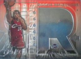 2003-04 Upper Deck Triple Dimensions Lebron James Rookie Card #132