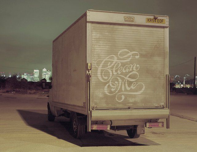 Dirty truck Calligraphy by Alison Carmichael