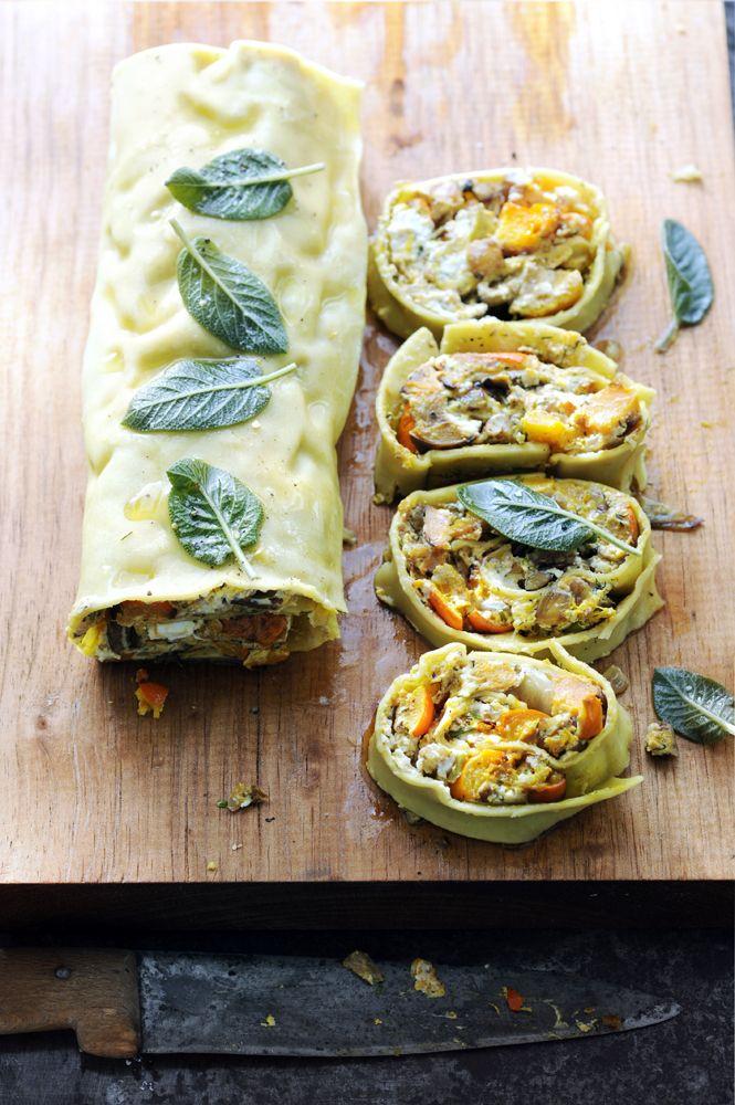 Pastarol met pompoen en geitenkaas: ideaal als je veel gasten hebt, want deze pastarol met pompoen is easy, voor te bereiden en té lekker!