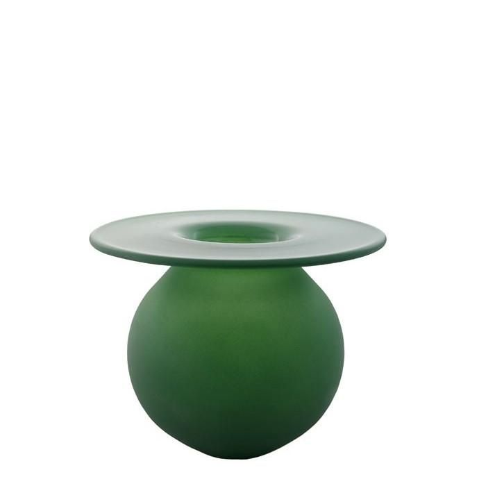 MAGNOR BOBLEN AUTUMN GREEN LEAF VASE 120 MM