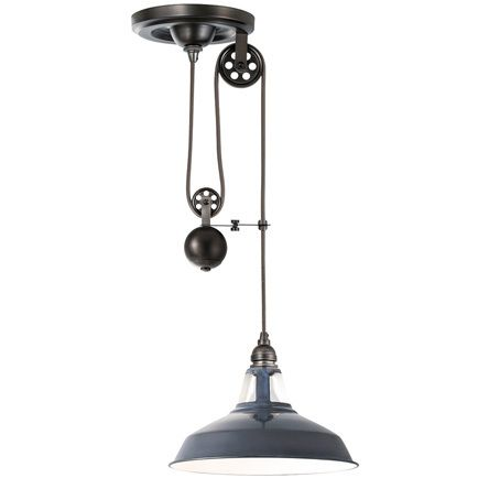 Pulley エナメルペンダントライト M ヴィンテージグレー